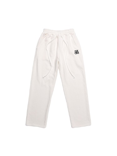 [사나 착용] DXOH LOGO PANTS WHITE
