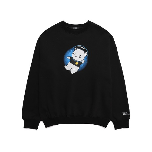 UNIVERSE BEAR SWEAT SHIRT [BLACK]