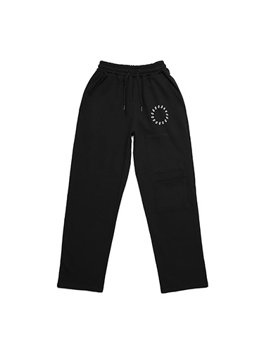 SMILE EMBROIDER PANTS [BLACK]