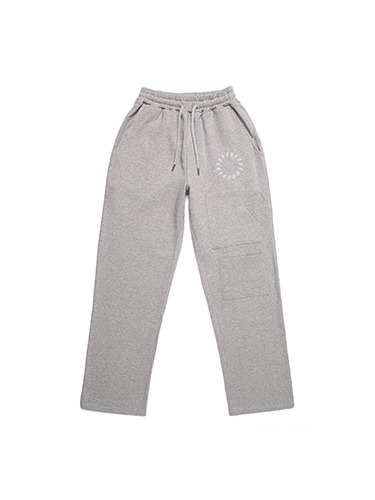 SMILE EMBROIDER PANTS [LIGHT GREY]