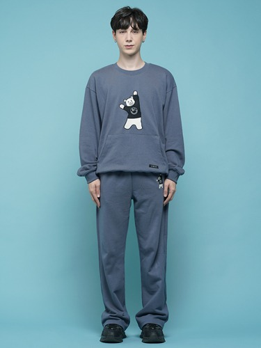 BEAR EMBROIDER PANTS [DARK BLUE]