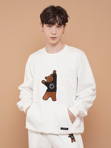 BEAR EMBROIDER MTM [WHITE]