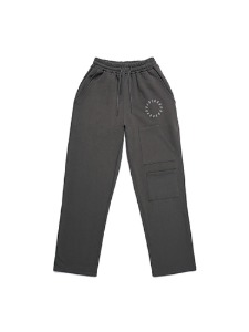 SMILE EMBROIDER PANTS [GREY]