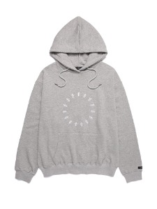 SMILE EMBROIDER HOODIE [LIGHT GREY]