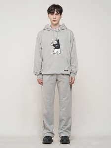 BEAR EMBROIDER PANTS [GREY]