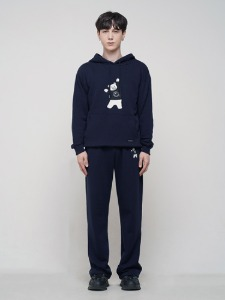 BEAR EMBROIDER PANTS [NAVY]